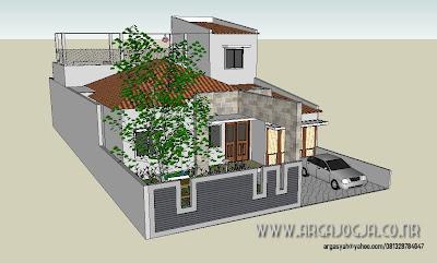Konsep Desain Fasad Rumah Minimalist Lebar 10,5 meter