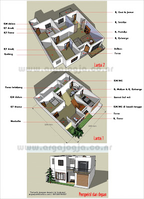 Desain-Rumah-Dengan-Sketch-up