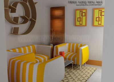 Desain-Interior-Ruang-Tamu Kecil-Minimalist