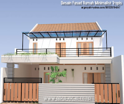 Desain Fasad Rumah Tumbuh Minimalist Tropis