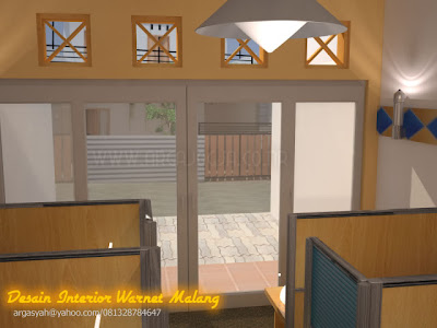 Desain Interior Warnet Malang Ukuran 3,4x7,5