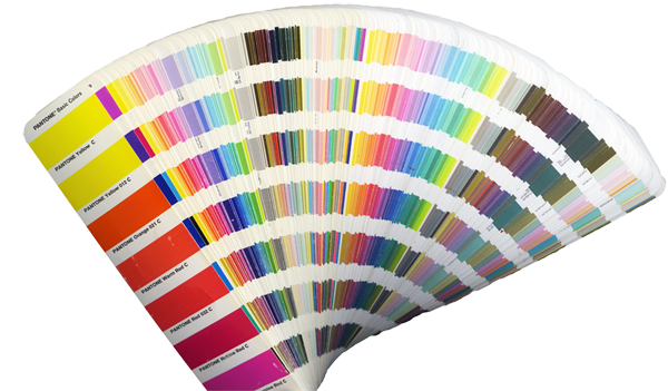 the color book does have a handy feature if the pantone color is achievable in cmyk then a four dot icon is underneath the color name - Pantone Color Books