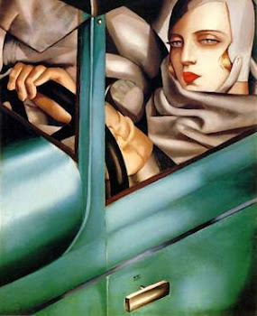 Self-Portrait in the Green Bugatti.