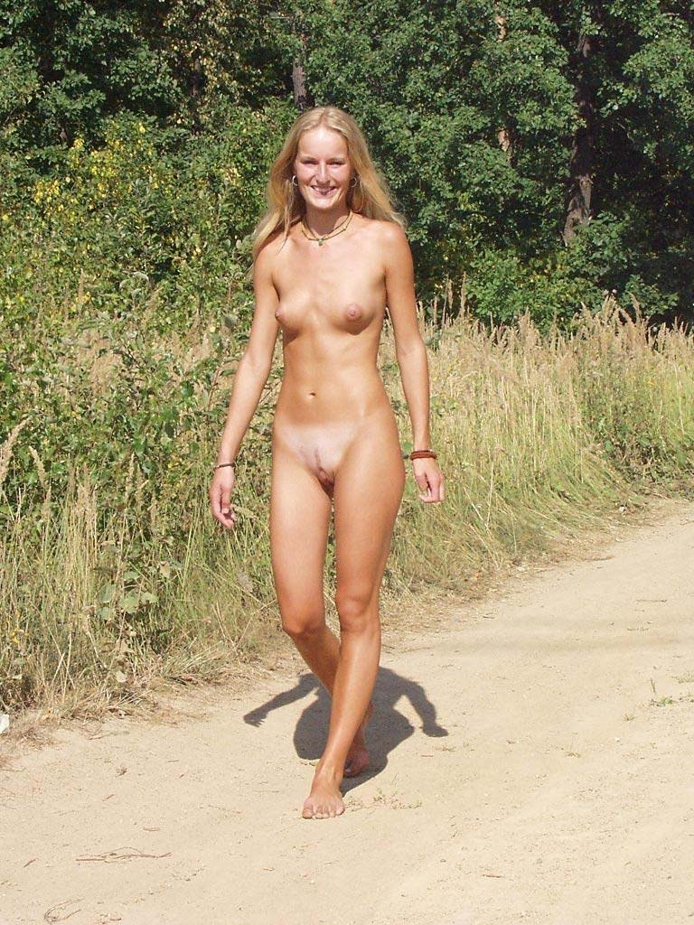 Walking nude is the purest form of nature exploration, freedom, peace, ...
