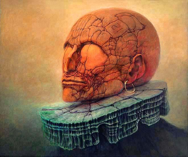 obraz beksińskiego z 1984 roku
