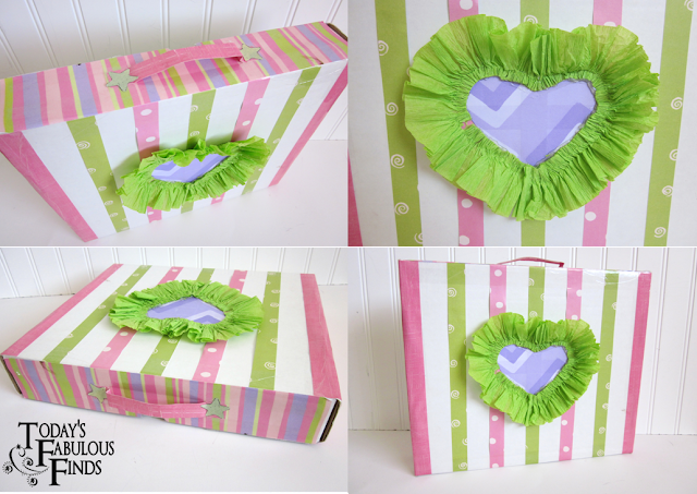 gift boxes: crepe paper flowers and girls valentine boxes
