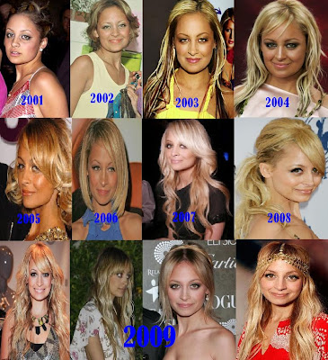 nicole richie brown hair 2010. Nicole Richie#39;s hair over the