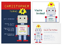 Robot Party Invitations and Inspiration