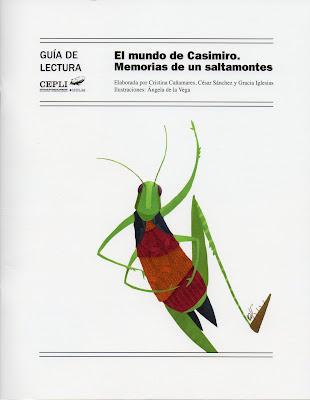 Guía de Lectura El mundo de Casimiro Memorias de un saltamontes Gracia Iglesias Poesía Premio Luna de Aire CEPLI Ángela de la Vega