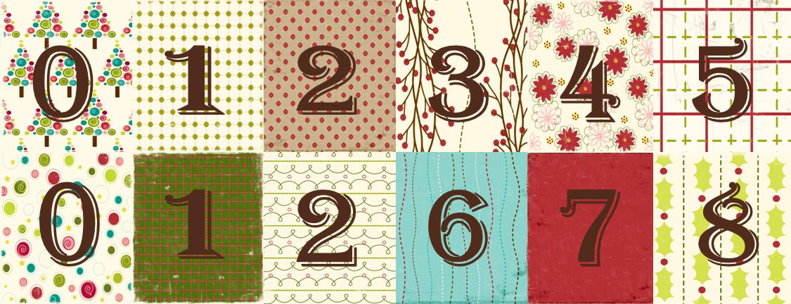 1125 x 432 · 117 kB · jpeg, Christmas Countdown Number Printables