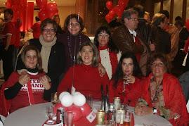 MULHERES COLORADAS NA FESTA DE 10 ANOS DO MOVIMENTO INTER GRANDE