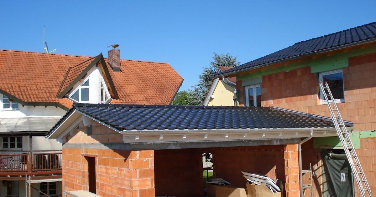 bauen mit den brachats dach gedeckt bleche montiert garage gestrichen. Black Bedroom Furniture Sets. Home Design Ideas