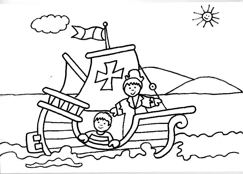 Famoso Lindo Barco Pirata Para Colorear Galería - Dibujos Para ...