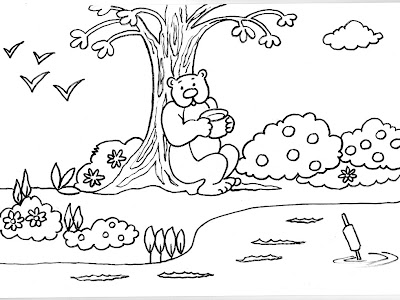 Dibujos para colorear para ni os o infantiles son l minas for Jardin infantil los pinos