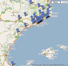 Mapa dels cineclubs als Països Catalans