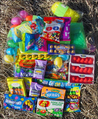 Unpacked Easter candy