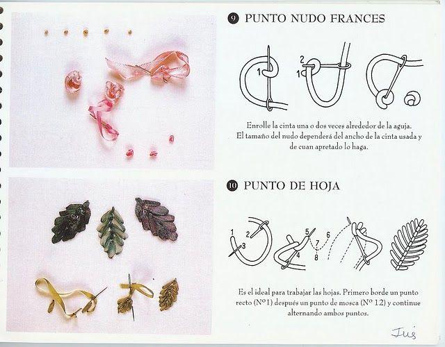 Bordar Flores Con Cintas De Seda: 32 Proyectos  - Imagenes De Flores Para Bordar En Cinta