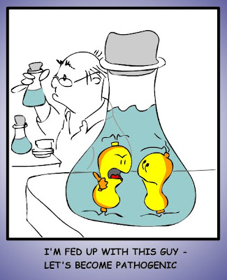 Pathogenic microbes (cartoon)