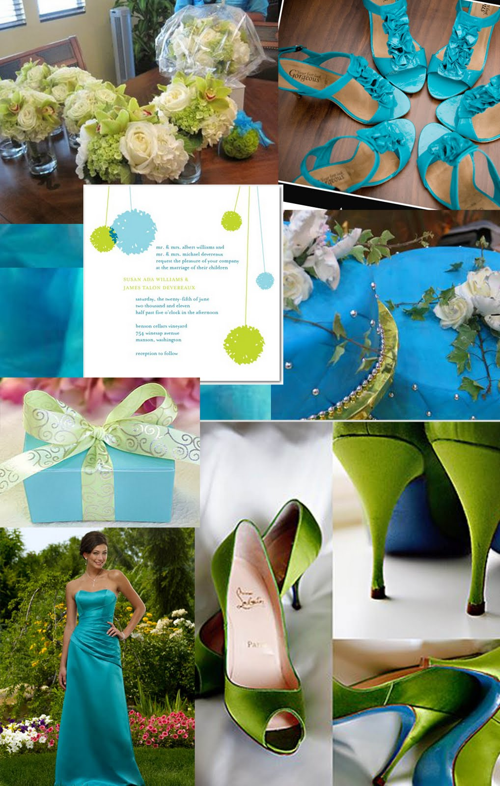 Turquoise and fall wedding