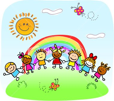 clip art children holding hands. clipart playful children