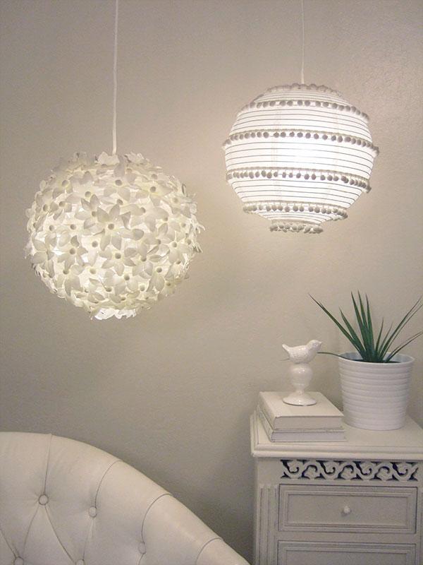 Manualidades creando con estilo l mpara de papel - Imagenes lamparas de techo ...