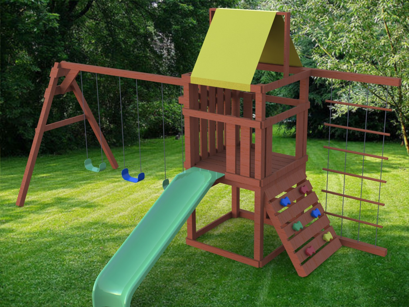 Woodwork playset plans pdf plans for Design your own playground online