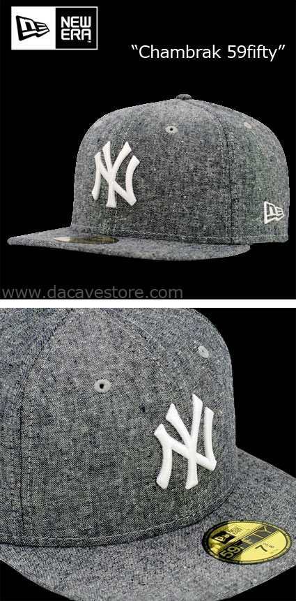 "New cap in store, the ""Chambrak"" New York 59fifty. Made out of 55%Linen and"