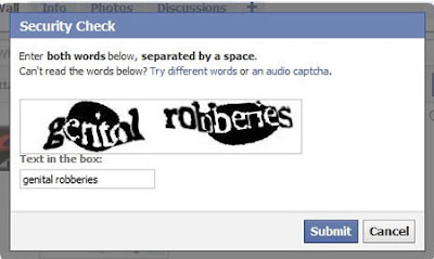 Bizarre Phrase Facebook Captchas Seen On  www.coolpicturegallery.us