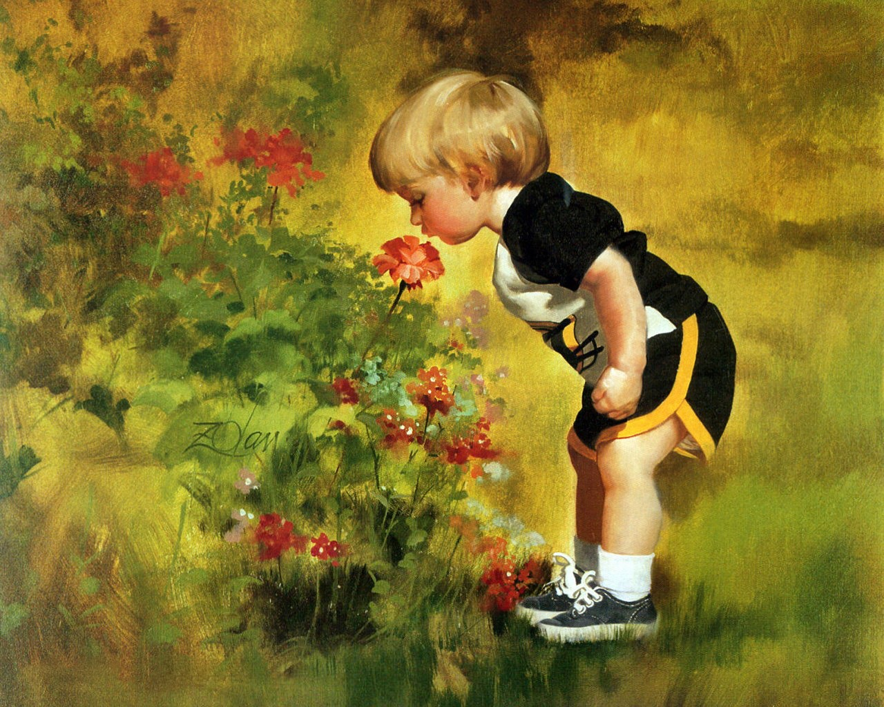 Donald Zolan Painting of Children Picture