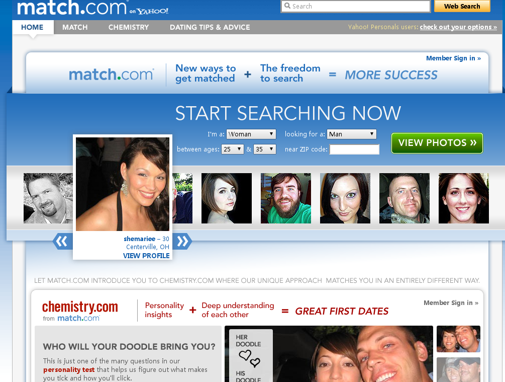 Match dating site search