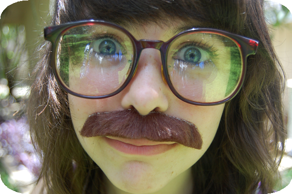 girls with mustaches. Girls in Mustaches.