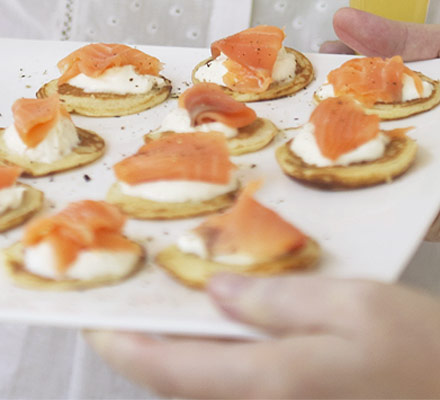 Fidgety Fingers Christmas Eve Dinner Smoked Salmon Blinis