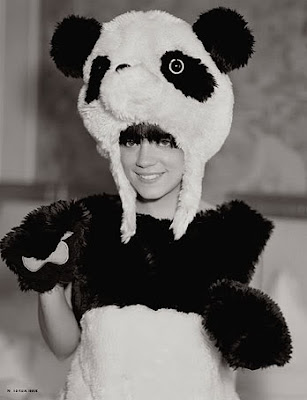 lily allen in panda bear suit, panda bear costume, lily allen, lilly allen, celebrities, masked celebrities, celebrity gossip, musicians, brits, uk, pop stars, costumes