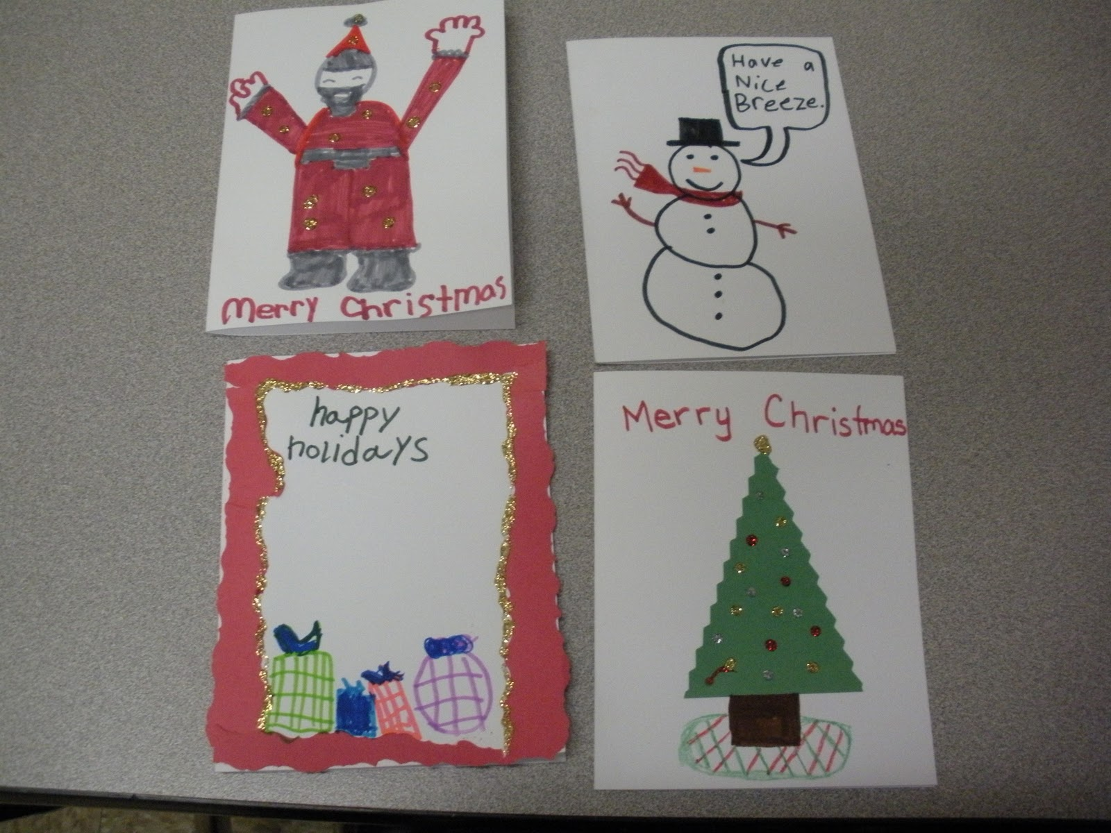 Jilly\'s Jewels: Christmas Cards for Soldiers from my Students