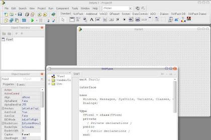 Pengenalan Borland Delphi 7.0 Sebagai IDE Pemrograman Pascal