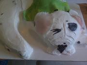 Boxer pup cake