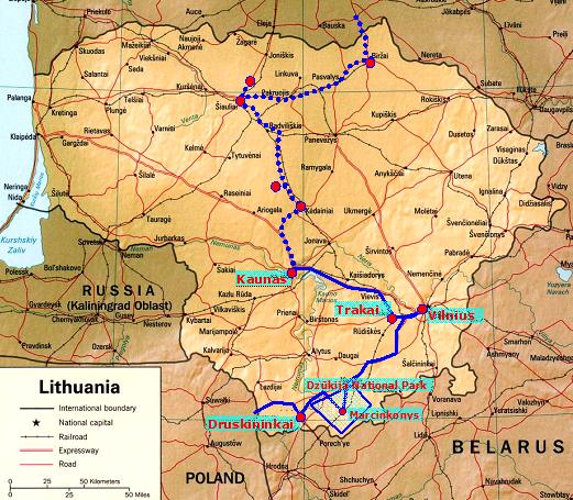 Charlie Dog Came Too Lithuania 2 Trakai to Druskininkai