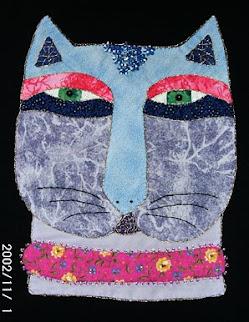 Camiseta gato azul