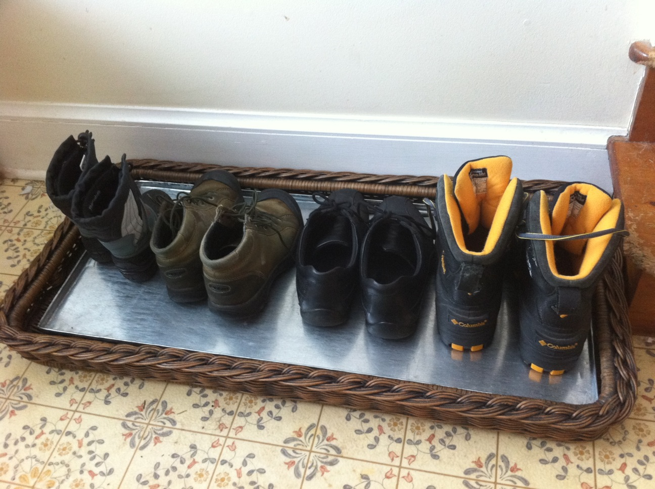 Uncategorized Shoe Basket super savvy mommy the basket lady wicker shoe tray review i have a large mudroom and really love that it is laminate because easy to clean also color of matche