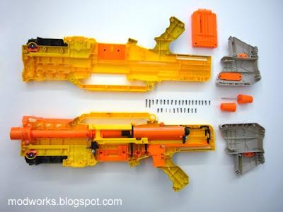 Nerf Longshot CS-6 N-Strike Front Scope RARE dart gun TACTICAL ...