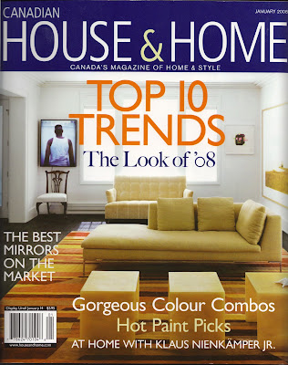 i have been quoted in this months issue of canadian house and home on my style resolutions for the new year - Interior Design Blogs Canada