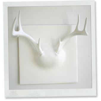 Patricia gray interior design blog white chic for Ghost antler coat rack
