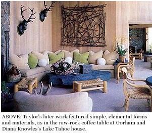new designers interior: david ward artist for michael taylor