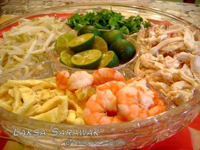 resepi laksa sarawak. lepas tue, Laksa Sarawak nie