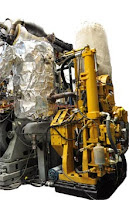 Test engine: Researchers at the University of Wisconsin-Madison used this Caterpillar heavy-duty diesel engine to test a new high-efficiency (55%) combustion concept
