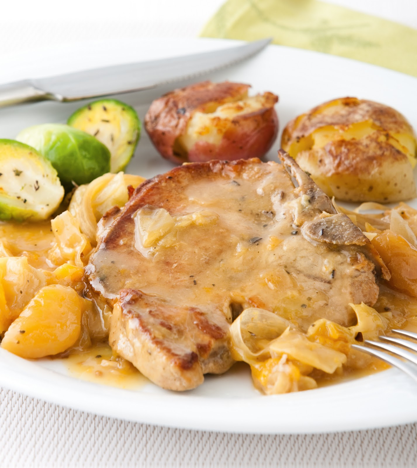 Dinner Two: Slow Cooker Pork Chops with Apricots and Cabbage