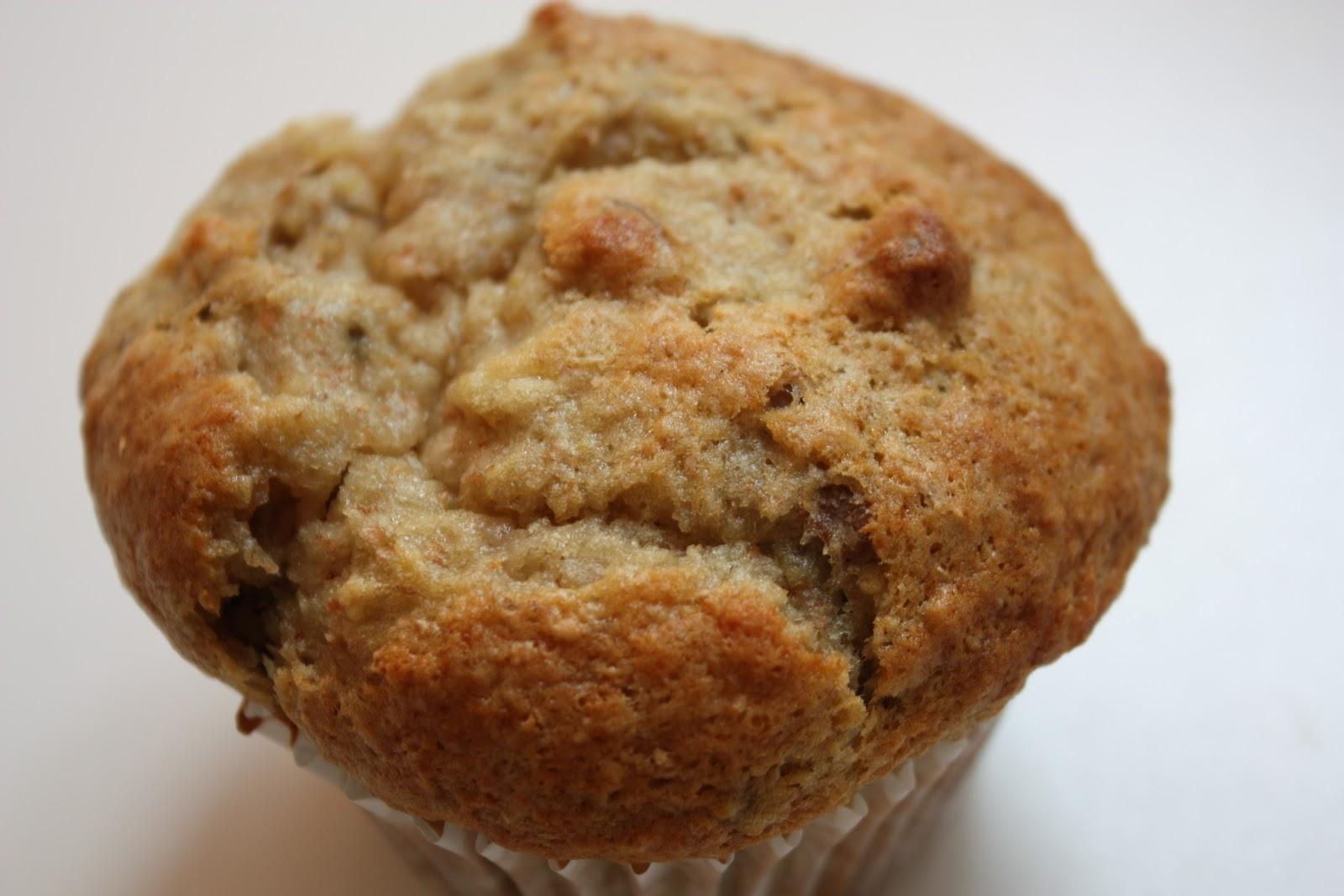light, fluffy banana nut muffins!