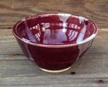 Plum Bowl with White Drizzle Free Shipping -$18-