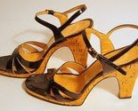 Vtg 70s Patent Leather Slingback High Heel Sexy Sandals Sz 10 -$75-