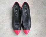 Vintage Red and Black Leather Flats -$28-